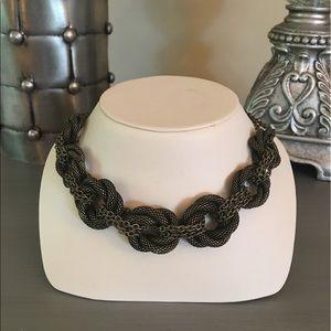  Brass Mesh Knots Necklace