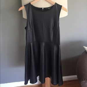 Vegan leather skater dress