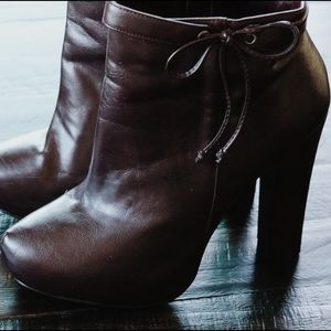 JustFab Shoes - Wine Red Booties