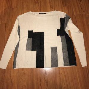 Lauren Vidal Sweaters - Lauren Vidal tissue sweater M abstract squares