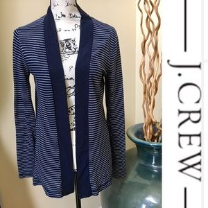 J Crew Tops - 🌼J Crew🌼Women's Blue & White Stripes Cardigan