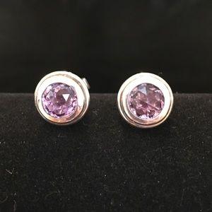 John Hardy Jewelry - John Hardy Sterling Silver Amethyst Earrings
