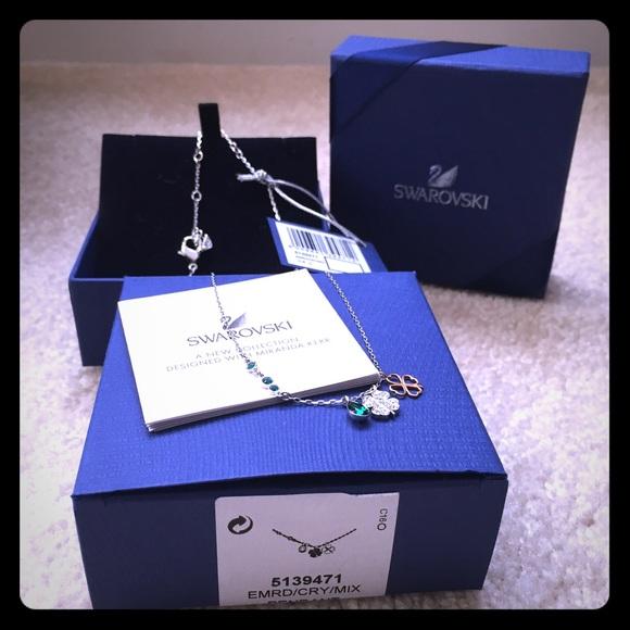 6d7acab60 Swarovski Jewelry | Perfect Gift Duo Clover Necklace | Poshmark