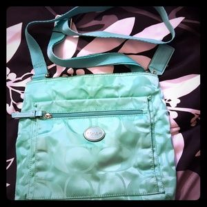 Coach Handbags - Mint green coach bag. Some signs of use.