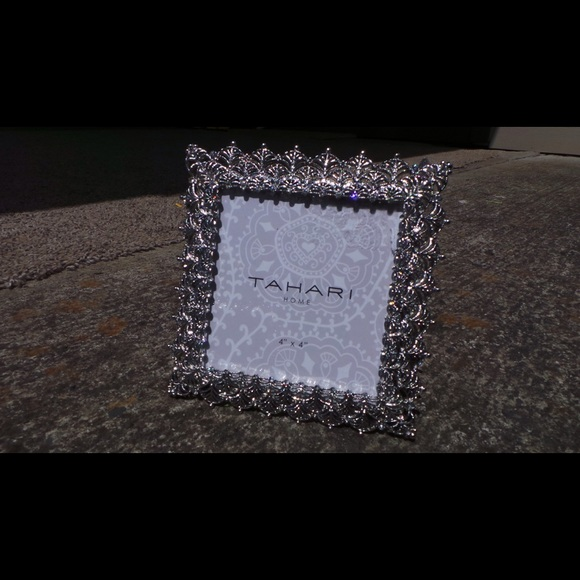 Tahari Other | Home Silver Crystal Picture Frame 4x4 | Poshmark