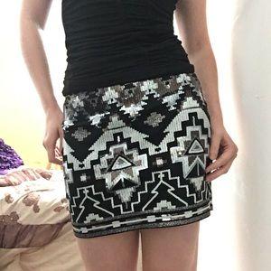 Women's White Express Sequin Skirt on Poshmark