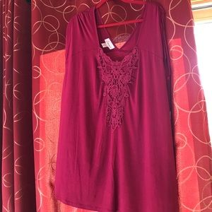 simply emma Tops - NWT Simply Emma lace/crochet  top size 2X