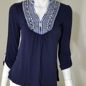 Anthropologie Tops - Anthropologie Blue Long Sleeve Top XS Akemi Kim XS