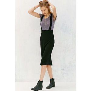 UO Suspender Midi Skirt