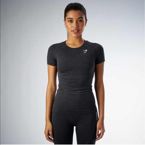 e22b5e487b20 Gymshark Tops | Seamless Tshirt Nwt Black | Poshmark