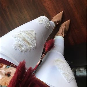 Denim - White Destroyed Jeans