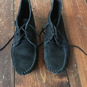 Moccasin ankle booties