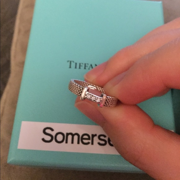 a512ac811be Tiffany Somerset Ring Diamonds 6 Sterling Silver. M 5903c38e2599feead1019d04