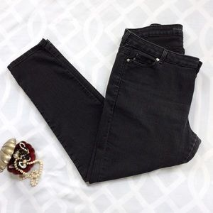 Michael Kors Denim - MICHEAL KORS Black Tapered Fitted Jeans, Plus Size