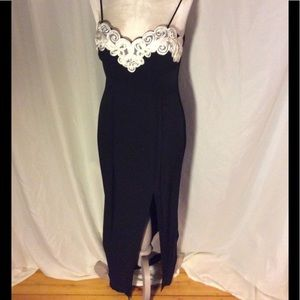 Jump Dresses & Skirts - Black gown with white ribbon and lace bodice