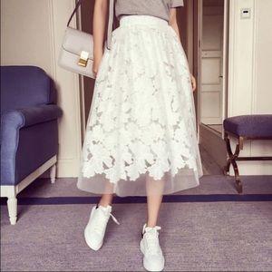 Dresses & Skirts - 🎉Reposh🎉NWOT Flower Lace Midii Skirt