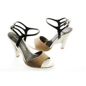 Marc Fisher Shoes - Marc Fisher Secila Taupe Multi Satin Heels