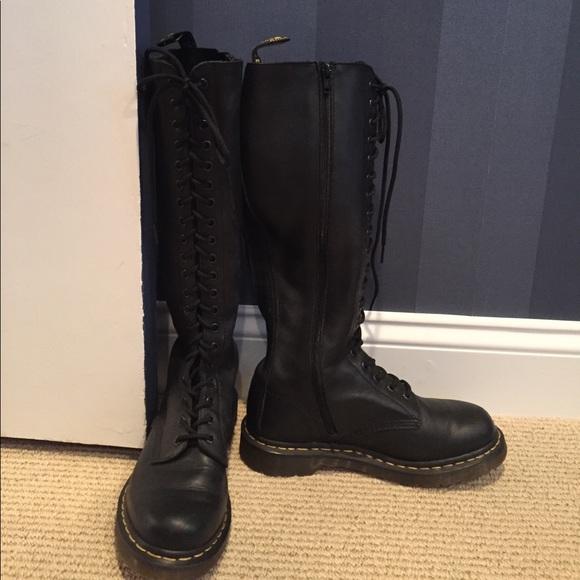 40 off dr martens shoes dr martens air wair knee high. Black Bedroom Furniture Sets. Home Design Ideas