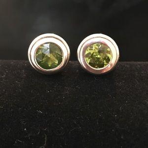 John Hardy Jewelry - John Hardy Sterling Silver Peridot Earrings