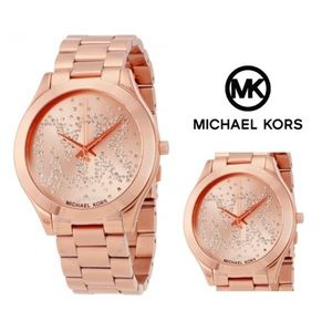 Michael Kors Accessories - Michael Kors Slim Rose-Gold Watch