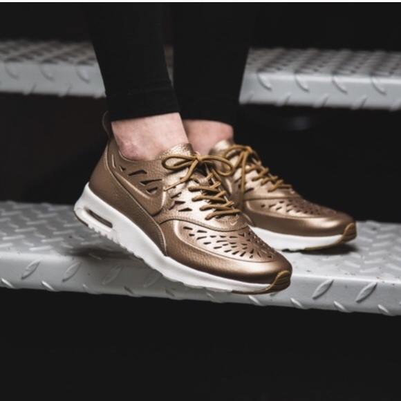 Nike Air Max Thea Joli Metallic Golden Sneakers