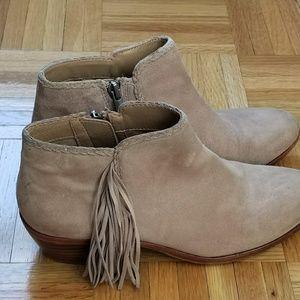Sam Edelman Shoes - Sam Edelman Beige Fringed Booties