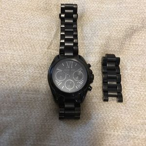 Michael Kors Accessories - 1 HOUR MICHAEL KORS BLACK WATCH IN FABULOUS SHAPE