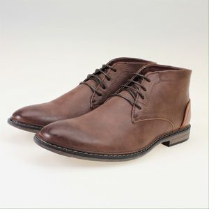 Adolfo Other - Two-Tone Brown Leather Chukka Boots