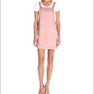 Kensie Dresses & Skirts - Kensie MOD SUEDE JUMPER DRESS - PALE PINK