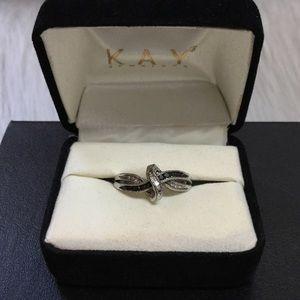 Kay Jewelers Jewelry - Kay Jewelers Silver Diamond Ring - Authentic