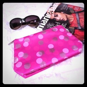Clinique Handbags - 🆕 CLINIQUE Pink Confetti Dot Cosmetic Bag