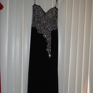 Crystal Doll Dresses & Skirts - Black Rhinestone Dress