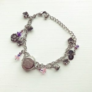 Jewelry - Silver Best Friends charm bracelet with locket