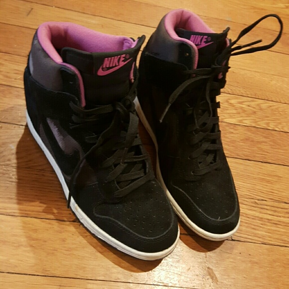 73 nike shoes sale nike wedge sneakers pink camo