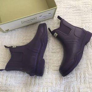 Hunter Shoes - Hunter Balmoral Equestrian Short Purple Bootie