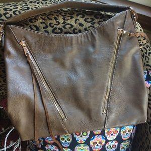 Bag, Brown Large Luxury VEGAN Leather Shoulder