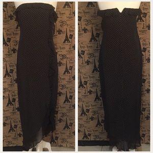 Lauren Ralph Lauren Dresses & Skirts - Ralph Lauren Strapless Polka Dot Maxi Ruffle Dress
