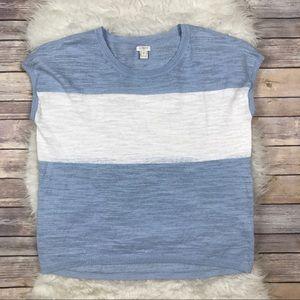 J. Crew Factory Striped Linen Sweater T-Shirt