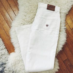 Blue Willi's Pants - White Cotton Blue Willi's Pants