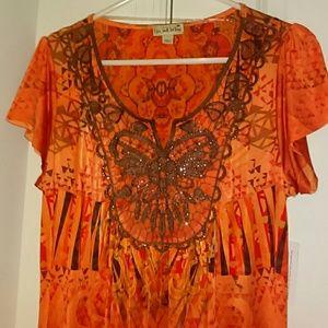 Live and Let Live Dresses & Skirts - Orange Beaded Festival Summer Spring Dress
