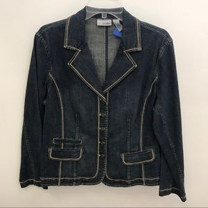 Chico's Platinum Blue Denim Jacket