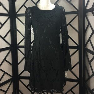 MM Couture Dresses & Skirts - MM Couture Little Black Lacy Dress Open Back