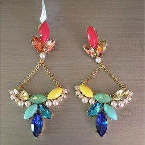 Lulu Frost Jewelry - 🛍HP🎉Lulu Frost Stone Multi Gold Jeweled Earrings
