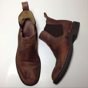 Born Other - Born Aiden Chelsea Brown Leather Slip On Boots