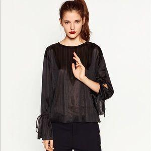 Zara Tops - *NWOT* ZARA Blouse with Cord Sleeve