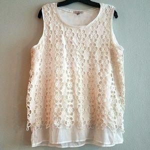 Dress Barn Tops - Roz & Ali for Dress Barn XL Petite Lace Top