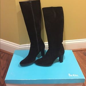 Boden Shoes - Boden Tall Black Suede Heeled Boots