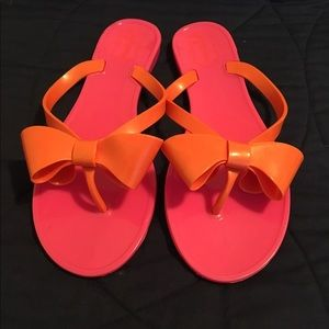 973691ae607c Mud Pie Shoes - Mud Pie bow jelly sandals