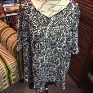 Cato Tops - Cato lightweight black and white blouse 18/20W