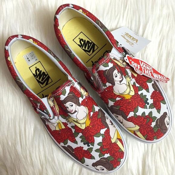 1e80c687c1 Vans Disney Beauty and The Beast Belle Slip On